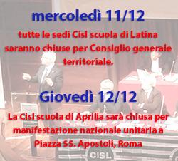 Banner chiusura dicembre